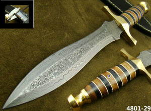 ALISTAR SUPERB HANDMADE DAMASCUS STEEL KNIFE DOUBLE EDGE HUNTING DAGGER 4801-29