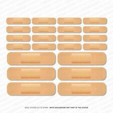 22 x Plaster Stickers Decals Car Dent Accident Scratch - SKU5129