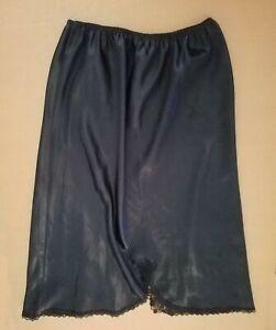 Victoria's Secret Lacey Black Woman's Silk Skirt Slip, US Size 8