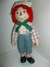 "2004 brass key collection raggedy andy porcelain doll 14"" tall"