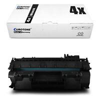 4x Eurotone ECO Toner für HP LaserJet P-2055-D P-2034-n P-2053-D P-2055-X