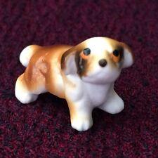 Vintage Bone China Miniature St. Bernard, Terrier Puppy Dog Animal Figurine