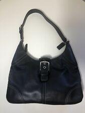 Coach Leather Soho Flap Shoulder Bag Hand Bag Purse Black