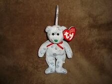 Ty Jingle Beanies Bear 2003 Flaky Happy Holidays Christmas ornament 5""