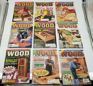 Lot of 27 Better Homes and Gardens Wood Magazine Home Woodworkers 1995-1997