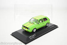 MINICHAMPS VW VOLKSWAGEN GOLF II STREETMACHINE GREEN MINT BOXED RARE SELTEN