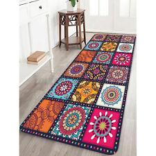 Mandala Floor Rug Non Slip Round Mat Circle Anti Skid Living Room Bedroom Carpet