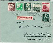 Dt. Reich 1935, Lupo-Brief mit schöner Buntfrankatur ab Mannheim-Flugplatz