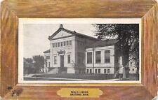 Owatonna Minnesota~Public Library~Wood Frame Border~B&W 1910 Postcard