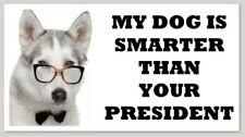 MY DOG IS SMARTER THAN YOUR PRESIDENT bumper sticker decal republican anti-biden