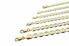 "10k Solid Yellow Gold Mariner Link Chain Necklace 2mm-6mm Men's Women Sz 16""-30"""
