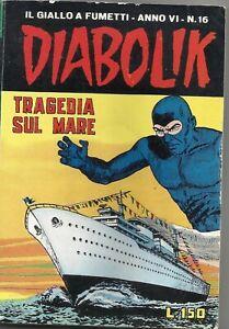 DIABOLIK - ANNO VI -N.16 TRAGEDIA SUL MARE-7 AGOSTO 1967