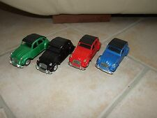 CITROEN 2CV LOT DE 4 COULEURS Vert, Noir, Rouge & Bleu Sans Boite 1:24 ( ?)