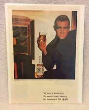 "Sean Connery *** Jim Beam Bourbon & 1966 Movie ""A Fine Madness"" *** Print Ad"