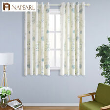 NAPEARL 1 Panel Modern Simple Pastoral Short Curtains Grommet Top Window Drapes