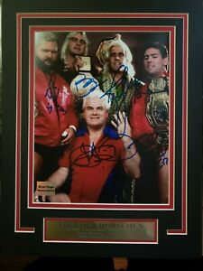 WWE WCW RIC FLAIR FOUR 4 HORSEMEN 11X14 Matted Namplate PHOTO AUTOGRAPH SIGNED