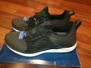 Skechers 52967 Mens Skyline Black  Memory Foam Air Cooled Suede Shoes Size 10.5