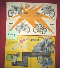 N°4911  / dépliant des motos et scooters ALCYON 1955 ?  125 cc, 250 cc , scooter