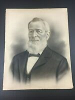 Antique Old Portrait Man Historical Figure Circa late 1800's 1900's EASTON NE PA