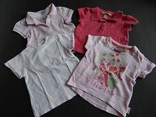 VINGINO KANZ H&M Vier tolle T-Shirts Poloshirts weiß rosa Gr.62/68
