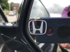 Car Window decal, Set of 2 Wing Mirror HONDA LOGO Stickers - Etched Glass