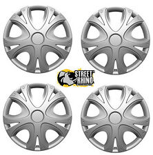 "Fiat Uno 15"" Universal Dynamic Wheel Cover Hub Caps x4"