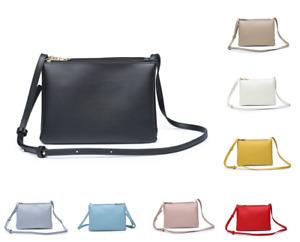 Women Triple Detachable Section Crossbody Messenger Handbag Small Shoulder Bag