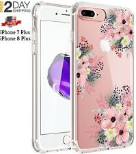 iPhone8 Plus Girl Floral Clear TPU Soft Slim Flexible Silicone Cover Phone case