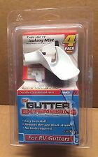RV/Camper/Trailer - Gutter Extensions, 4 pack, WHITE