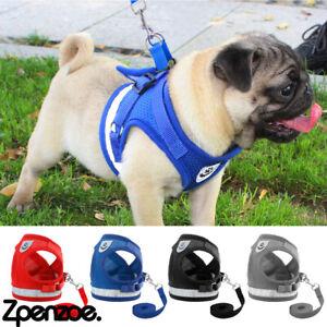 Pets Leash Vest Dogs Cats Reflective Vest Nylon Mesh Rope Harness Pet Supplies
