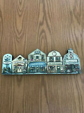 """Brandywine Woodcrafts Collectibles """"Garden Lane"""" with 4 Buildings in a Row"""