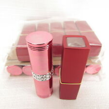 Empty Lipstick Cases Lot Of 18 Size 12.1 Pink Red New Old Stock
