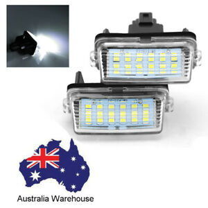 2pcs Car Led License Plate Lights Bulbs Lamps White For Toyota Crown Camry Vios