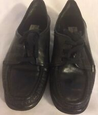 Ladies Black Leather Walkers Shoe Trotter  Oxford Lace Size 6 1/2 Wide Comfort