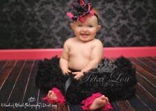 Black Fluffy Full Baby Toddler Pettiskirt Photo Shoot Prop 6-24 Months