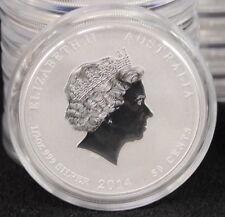 2014 Australian 1/2 Oz Fine Silver 999 Bullion BU Year Horse Perth Mint Coin
