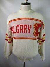 E9060 VTG CCM Calgary Flames NHL Hockey Pullover Sweater Size L