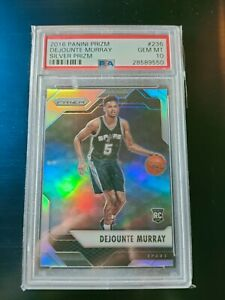 Dejounte Murray 2016-17 Panini Prizm Silver RC Rookie Card PSA 10 Gem Mint #236
