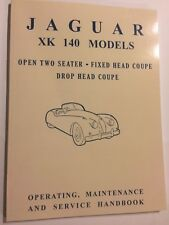 Jaguar XK140 Inc' SE C 3.4L OWNERS OPERATING SERVICE HANDBOOK MANUAL 1955
