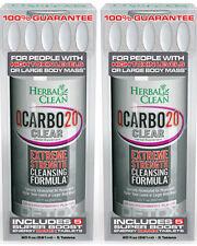 2 Packs Herbal Clean Q Carbo Clear, BNG Enterprises, 20 oz Cran Raspberry