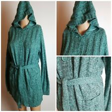 Terranova Women's Green Hooded Knitted Cardigan Coat Size S/M