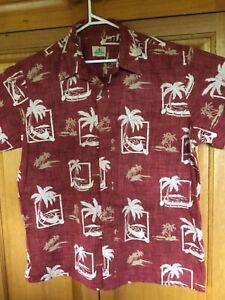 Men's  genuine Hawaiian shirtl, 138 cm chest, XL - XXL
