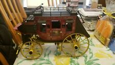 Franklin Mint Wells Fargo Stage Coach 1/16 Scale Die Cast Model with Extras