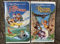 Lot of 2 The Rescuers & Down Under Disney Classics VHS Tapes Black Diamond Tapes