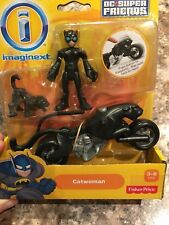 IMAGINEXT DC Super Friends CATWOMAN with CYCLE, BLACK CAT, WHIP ~ Fisher-Price