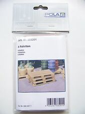 Pola G 1:22.5 scale Pallets for Loads / Dock / Platform(Four in Package) 333201