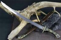 High Quality Nepal Saber Machetes Sword Sharp Damascus Steel Blade Full Tang