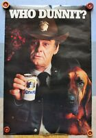 "Vintage Olympia Beer ~ ""Who Dunnit?"" ~ Promo Poster"