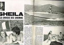 """PUBLICITE ADVERTISING 064  1976  SHEILA   """" à la croisée des chemins """" ( 4 pages"""