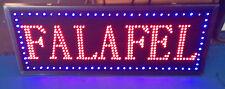 """FLASHING Led Sign  """" FALAFEL  """" CATERING LED SHOP SIGN 80cm x 33cm"""
